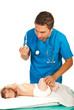 Doctor vaccine baby