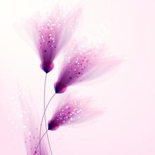 vecteur de fond avec des fleurs