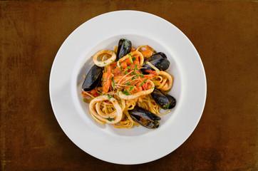 Linguine seafood