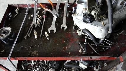 auto repair shop, editing