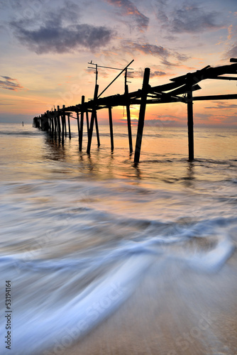 Fototapeten,strand,schön,brücke,wolken
