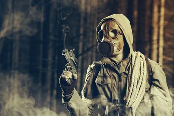 Heroes in gas mask