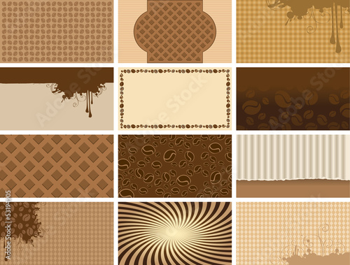 coffee set backgrounds for business cards