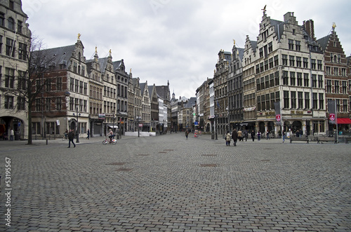 The central square of Antwerp, Belgium.