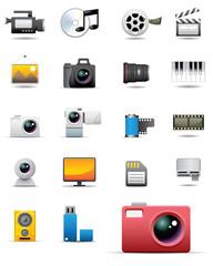 Universal media icons
