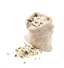 Wild rice in a bag