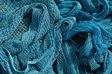 Heap of Commercial Fishing Net.