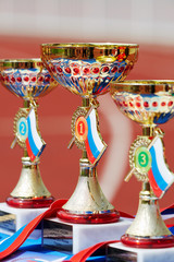 Golden cups for winners