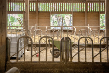 empty farm barn