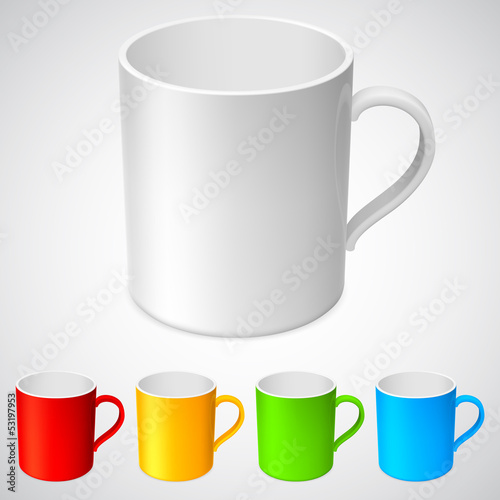 White cup and its color variations.