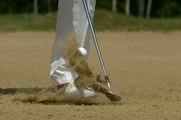 Golf Super Slow Motion Bunker Shot 5000 fps