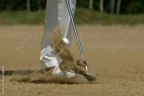 Golf Super Slow Motion Bunker Shot 5000 fps