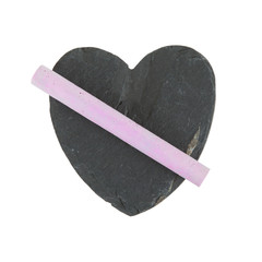 Heart shaped piece of slate