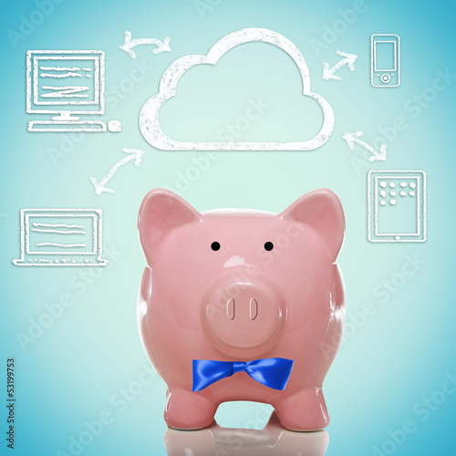 Cloud computing with piggy bank