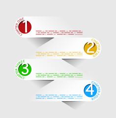 Esempio infografica punti foglietti business