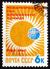Postage stamp Russia 1964 Partial Eclipse of Sun