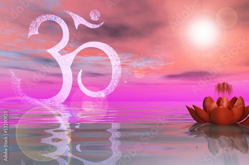Heiliger  Lotus auf dem Wasser