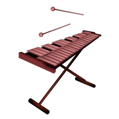 Xylophone or Marimba Isolated on White Background