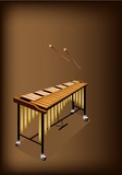 A Retro Vibraphone on Dark Brown Background