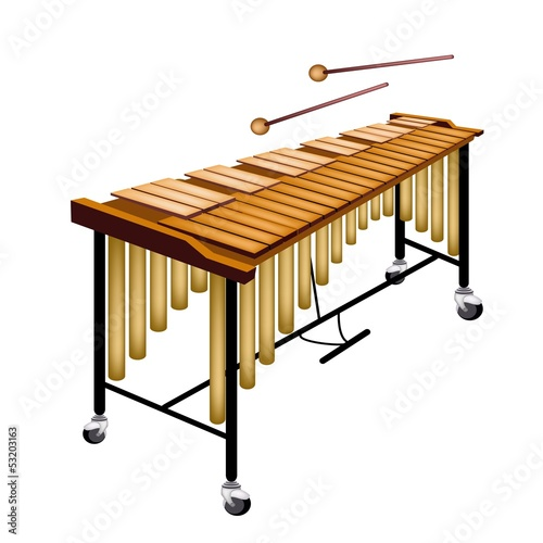A Musical Vibraphone Isolated on White Background