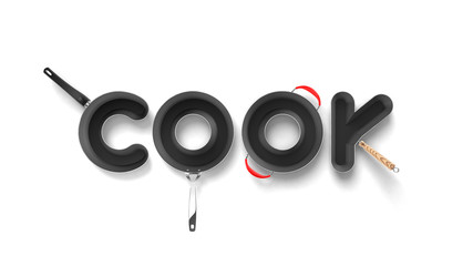 Cook pan letters