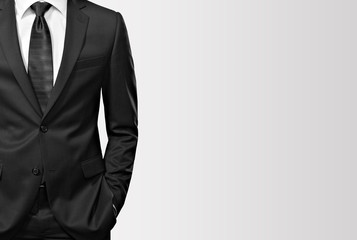 man in the suit on white