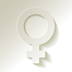 Venussymbol Weibliches Geschlecht
