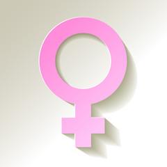 Venussymbol Weibliches Geschlecht Symbol rosa