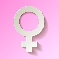Venussymbol Weibliches Geschlecht Hintergrund rosa