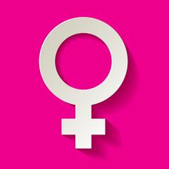 Venussymbol Weibliches Geschlecht Hintergrund PINK