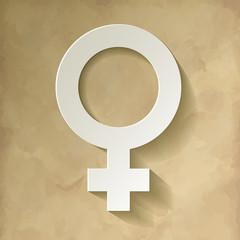 Venussymbol Weibliches Geschlecht Hintergrund Vintage