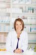 Cheerful pharmacist chemist