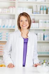 Pharmacist chemist woman