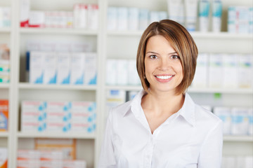 Cheerful pharmacist