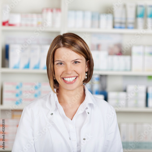 Portrait of a smiling pharmacist