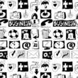 hand drawn business objects background and texture