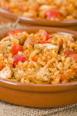 Creole Jambalaya - Rice with chicken, smoked sausage & tomatoes