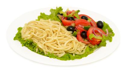 salad on a platter
