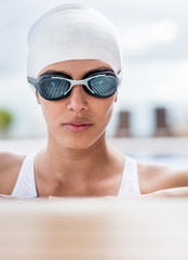 Portrait of a female swimmer