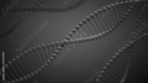 GrayDNA - Stylized DNA Spirals Video Background Loop