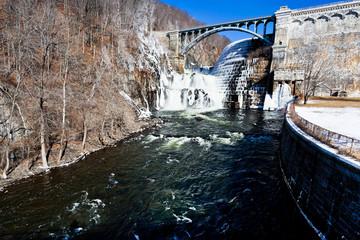 dam on mountain river