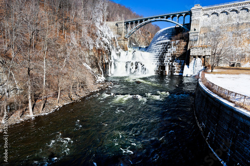 dam on mountain river