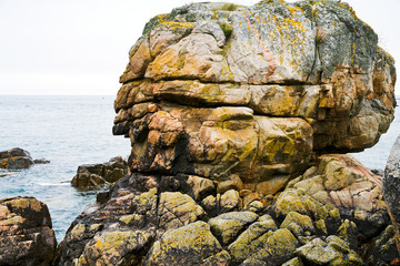 pink granite rock in Brittany