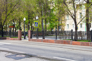 Pokrovsky Boulevard in Moscow, Russia