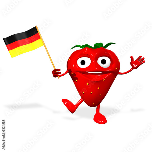 3d rendered of a German Strawberry