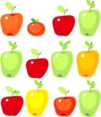 Fresh colorful apples