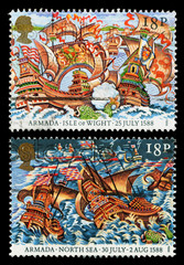 Britain Spanish Armada Postage Stamps