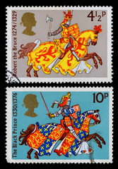 Britain Medievil Warrior Postage Stamps