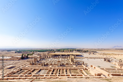 Scenic view of the Tachara Palace in Persepolis, Shiraz, Iran.