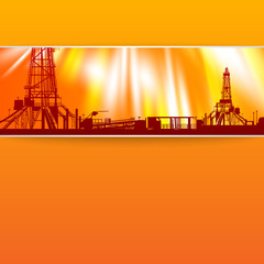 Abstract oil rig background.